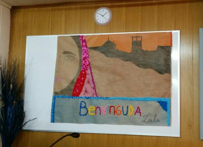 Mural fet per l'alumnat d'aula d'acollida