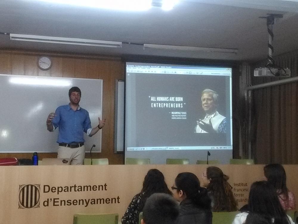 Xerrada sobre Emprenedoria en anglès a càrrec de Josep Carrizo